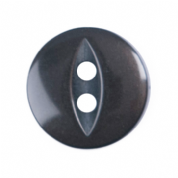 Fish Eye Button - Colour 030 Brown - Choose Size 11mm-19mm